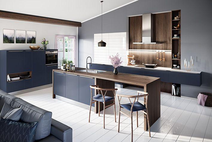 AV6000 Samtblau #design #style #designelements #häckerküchen - küchen modern design