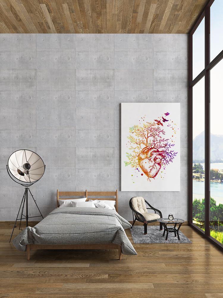 Heart Tree Art Watercolor Print Student Graduation Wall Decor Medical Art Decor