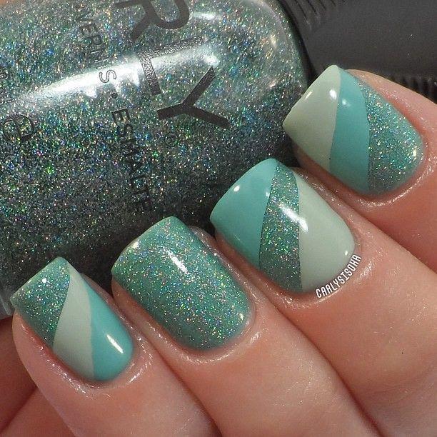 tonos en verde | uñas | Pinterest | Verde, Diseños de uñas y Manicuras