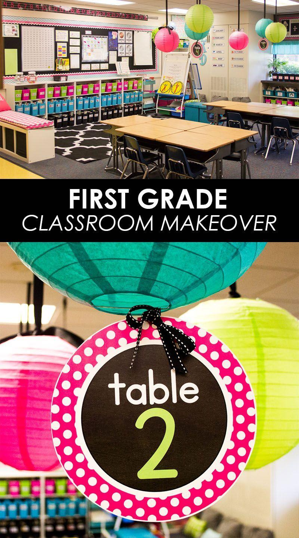 First Grade Classroom Makeover: Come Take a Tour! -  First Grade classroom tour   classroom before