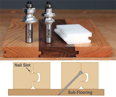 Tongue Amp Groove Flooring Router Bits W Nail Slot Carbide