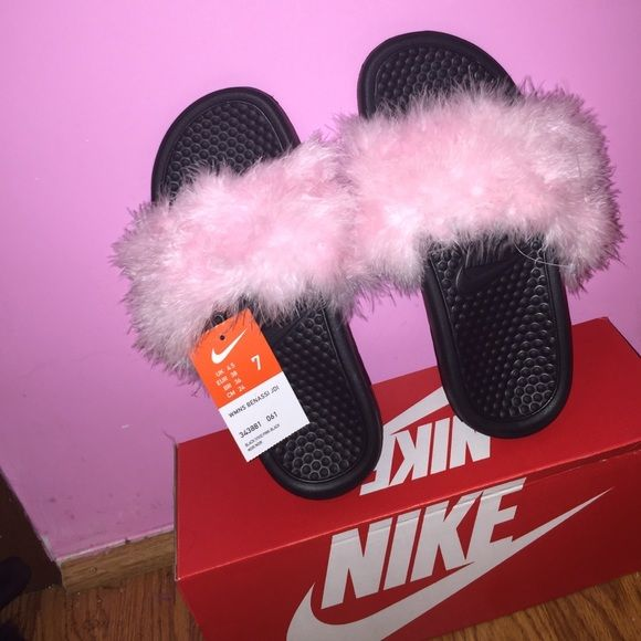Listing not available. New Nike ShoesNike SlidesFur ...