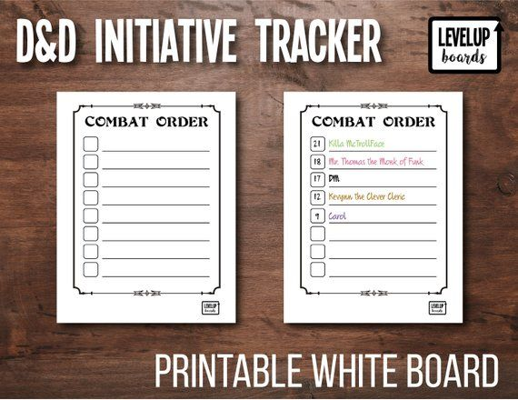 photo relating to Initiative Tracker 5e Printable named DD Initiative Tracker DM Beat Acquire Printable Dry