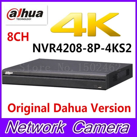 325.00$  Buy now - http://alinjq.worldwells.pw/go.php?t=32783583491 - Original Dahua English version NVR4208-8P-4KS2 H.265 NVR with 2SATA 8POE ports , 4K NVR 8ch DH-NVR4208-8P-4KS2 325.00$