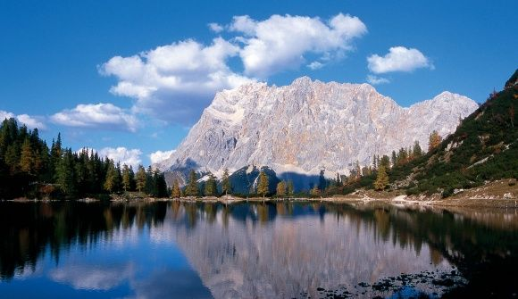 The Zugspitze, which is the highest peak of Germany, is the most famous mountain of the Wetterstein mountain chain.