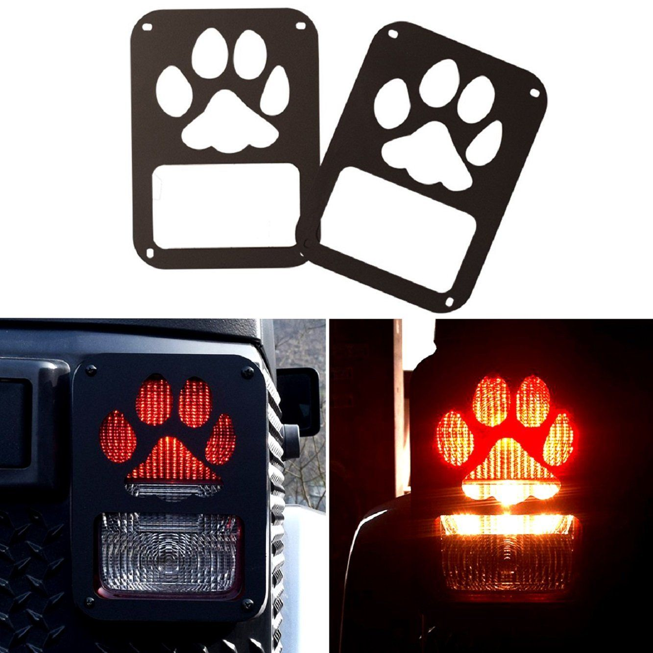 Black Dog Paw Stainless Steel Guard Light