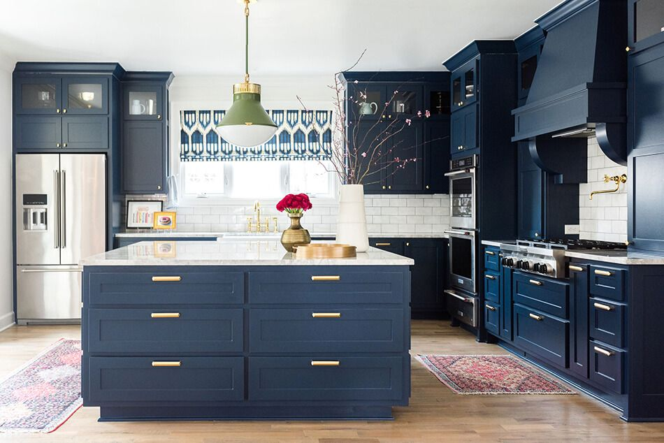 another navy kitchen home kitchens interior home on kitchen decor navy id=51745