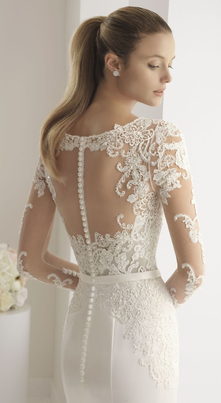 ad ] Aire Barcelona Wedding Dress. Long sleeve lace bridal gown with ...