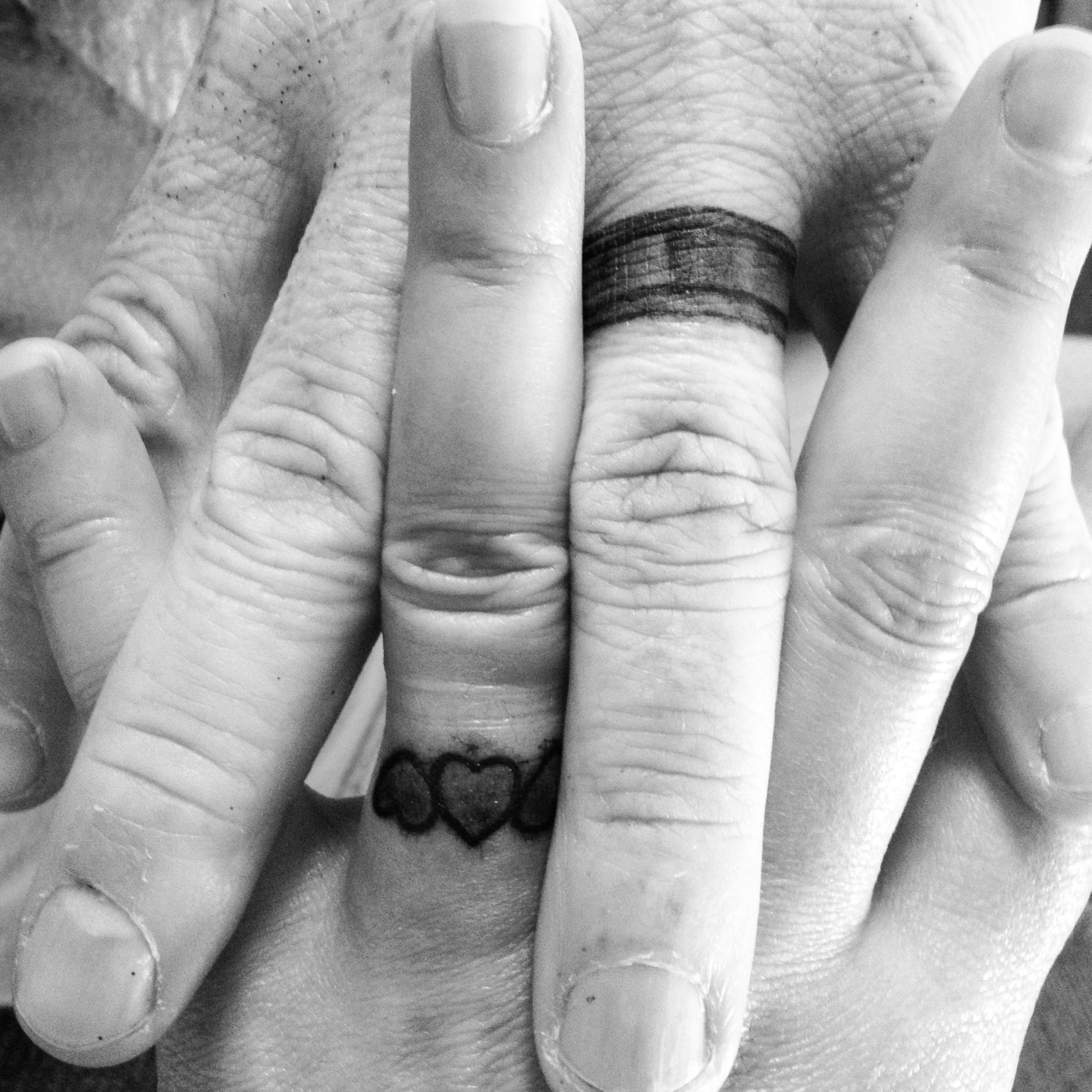 I Would Be Worried About A Man Who Wouldn't Be Willing To Do This Wedding  Band Tattoowedding
