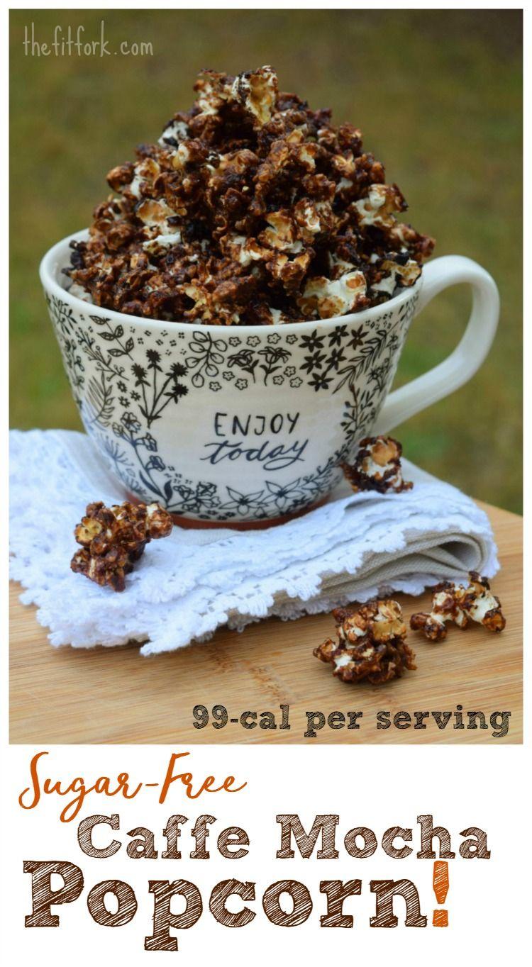 SugarFree Caffe Mocha Popcorn Recipe Popcorn recipes