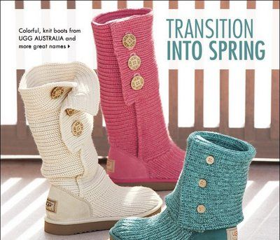 Knit uggs // Transition into Spring - the muddy, slushy, mucky season - with white knit boots. What a practical idea.