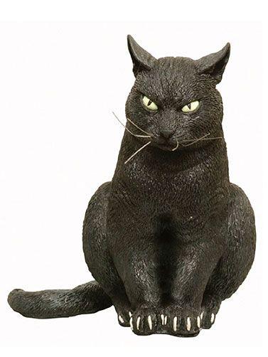 Sitting Black Cat Prop Scary Halloween Animal Props Scary Animals Halloween Animals Black Cat Halloween
