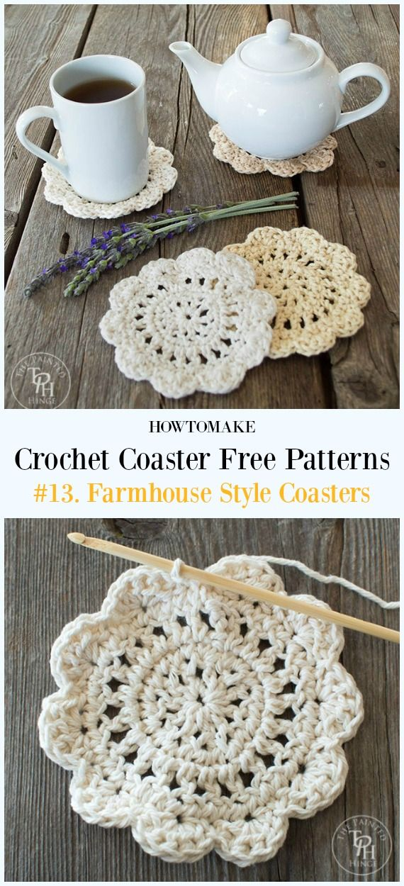 Easy Crochet Coaster Free Patterns Any Beginners Can Try Pinterest