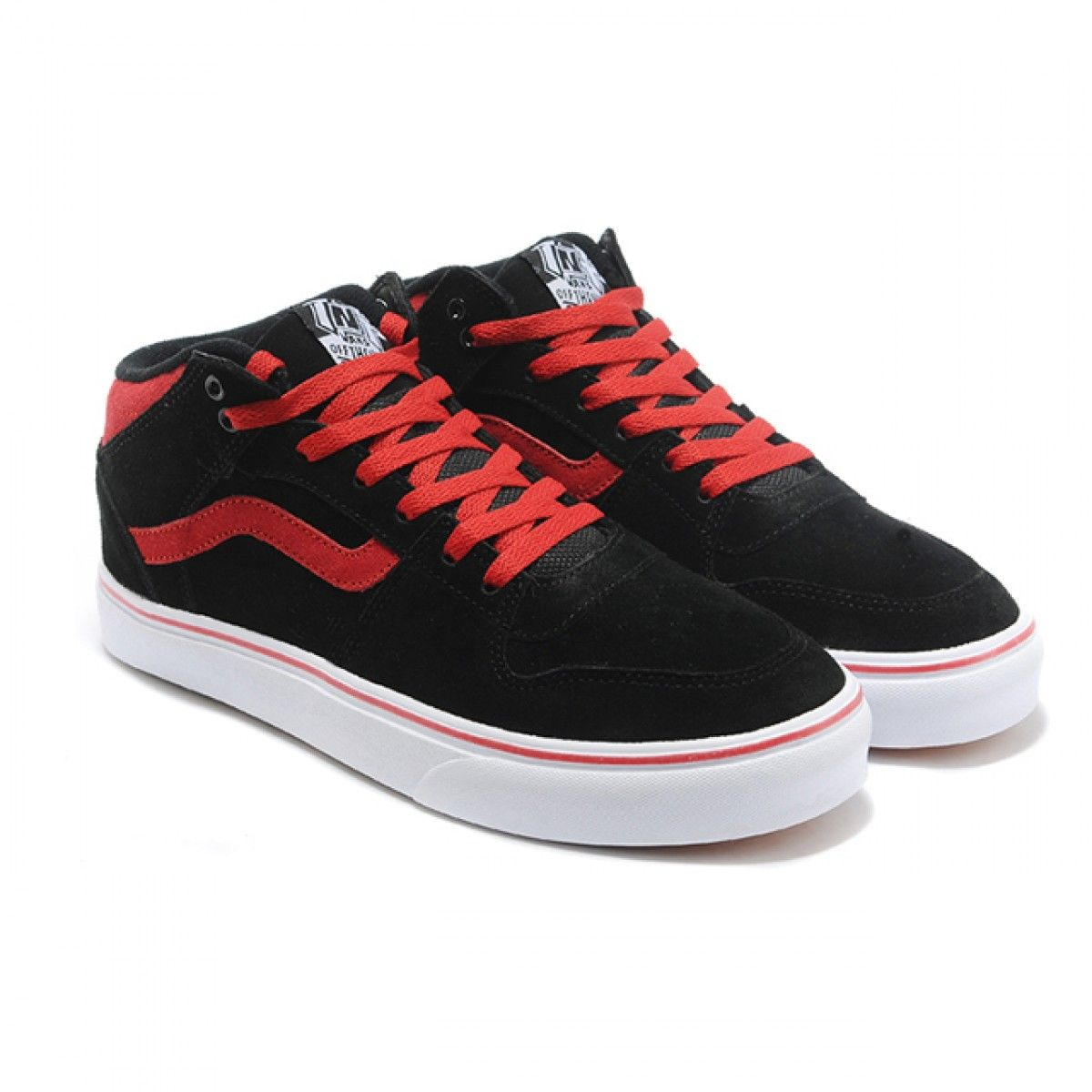 ccda2afca1 Vans Shoes Black Red TNT Half Cab Shoes Mens Classic Canvas