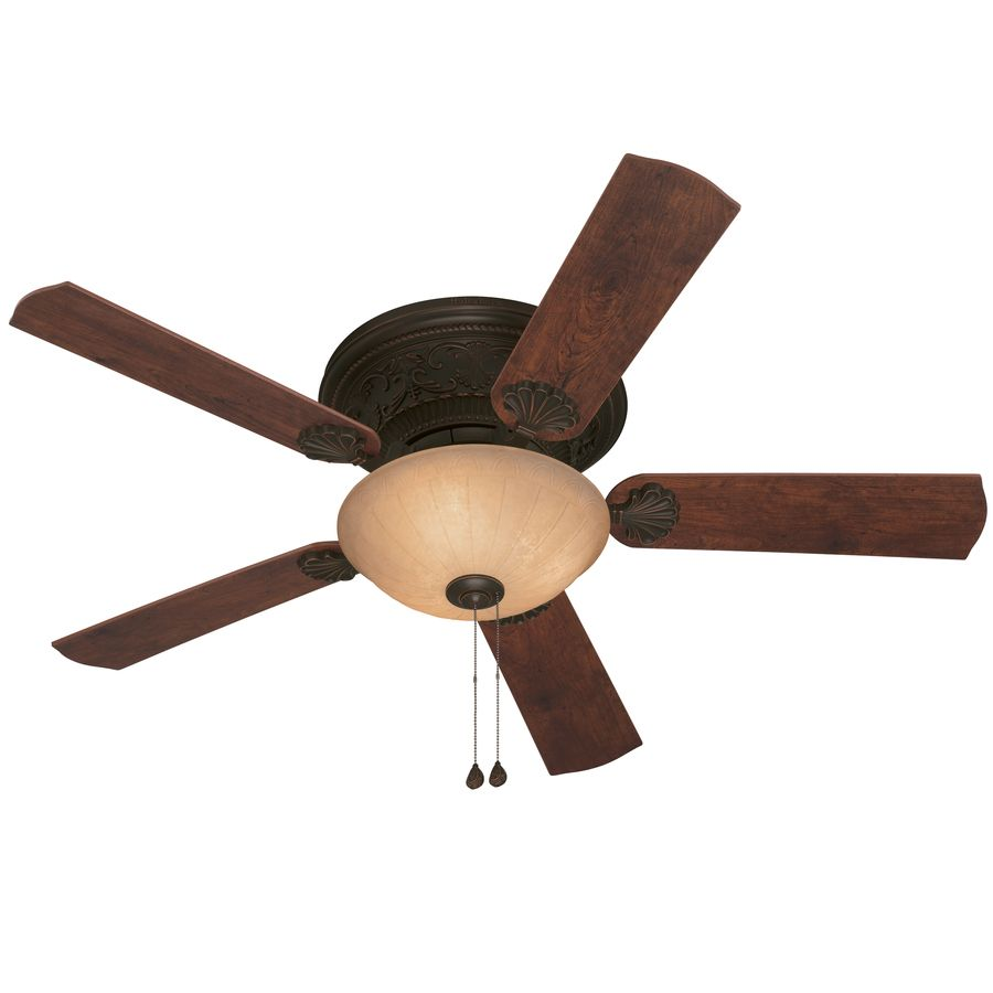 Harbor Breeze Lynstead 52 In Specialty Bronze Flush Mount Indoor Ceiling Fan With Light Kit Ceiling Fan With Light Ceiling Fan Fan Light Kits