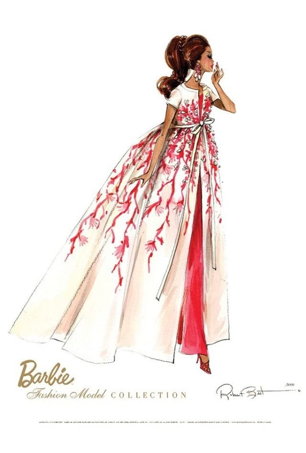 Barbie illustration, Fashion Illustration