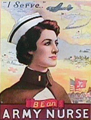 9b9e501985150 Army nurse vintage poster … | Nurses Humor | Nurse…