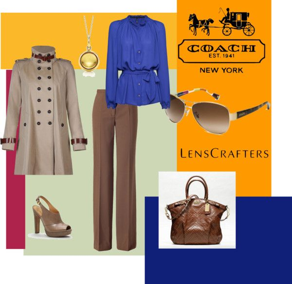 """""""Share Your Style with LensCrafters and Coach"""" by kristin-landgrebe-sample on Polyvore"""