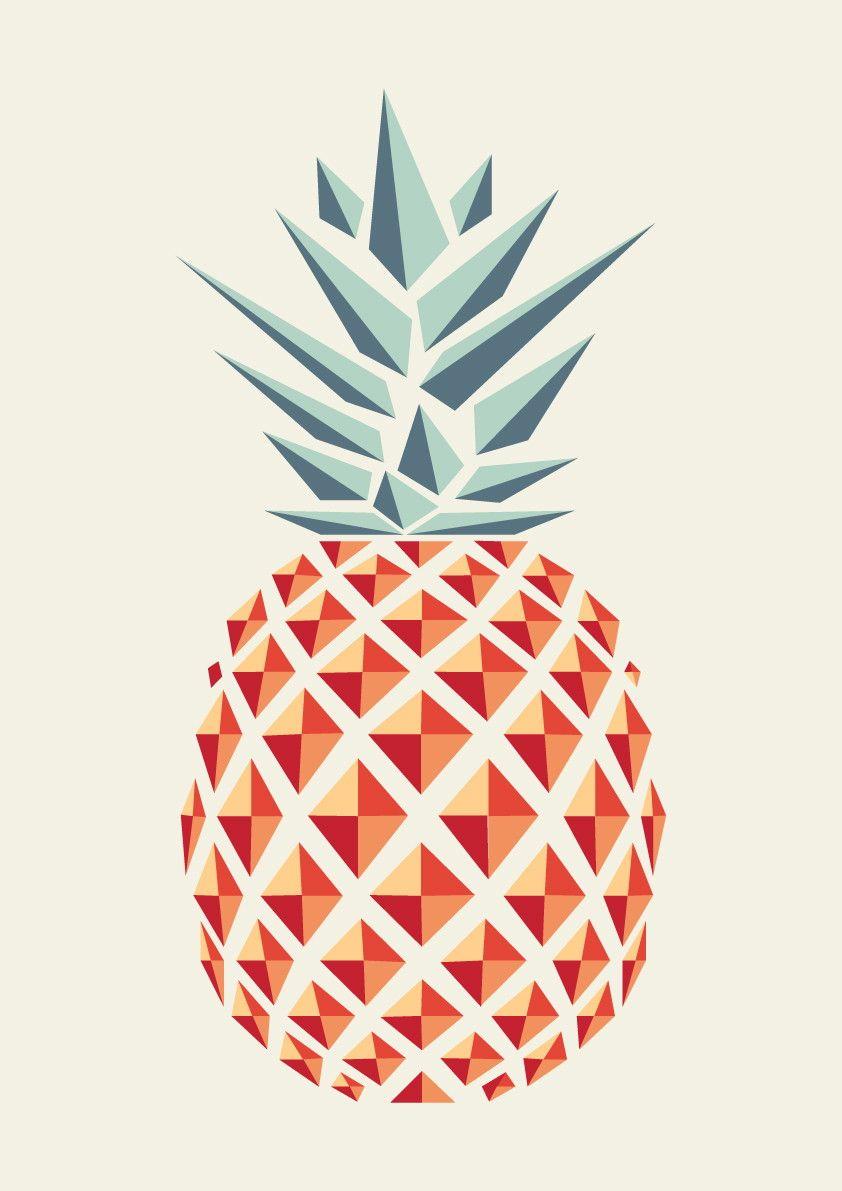 Poster Abacaxi Com Moldura Molduras Brancas Observa O E  ~ Imagens Para Quadros De Quarto Para Imprimir Abacaxi