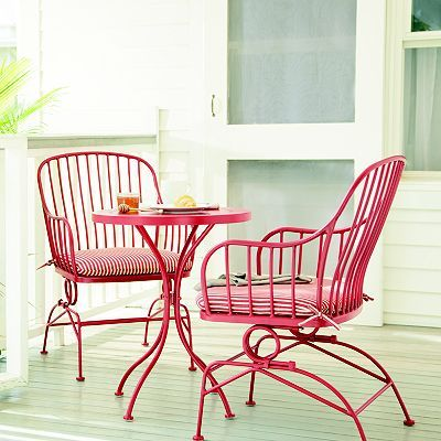 Just bought these for my porch - very comfy and I love the look ...