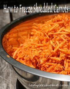How To Freeze Shredded Carrots Recipe Food Shredded Carrot Meals