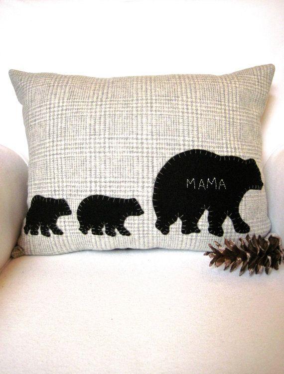 Rustic Home Decor Moose Pillow Woodland Christmas Rustic