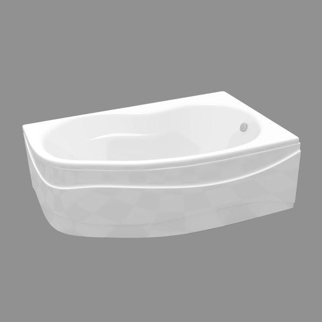 Baignoire asymétrique angle droit 160 cm COOKE \ LEWIS - prix baignoire a porte
