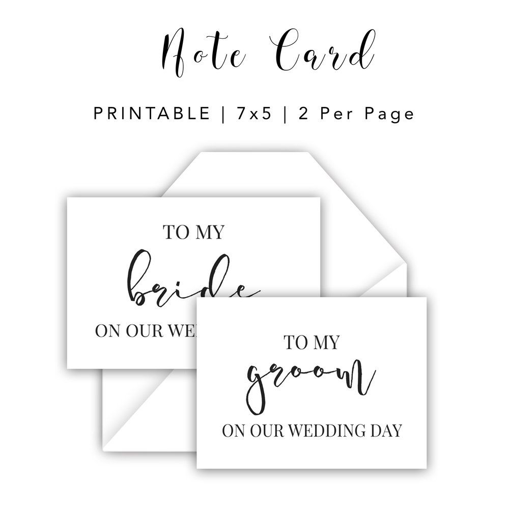 Bride and Groom Day of Wedding Card  Planner printables  #collage #life #personal #templates #monthly #daily #teacher #business #financial #student #fitness #weekly #makeyourown #organization