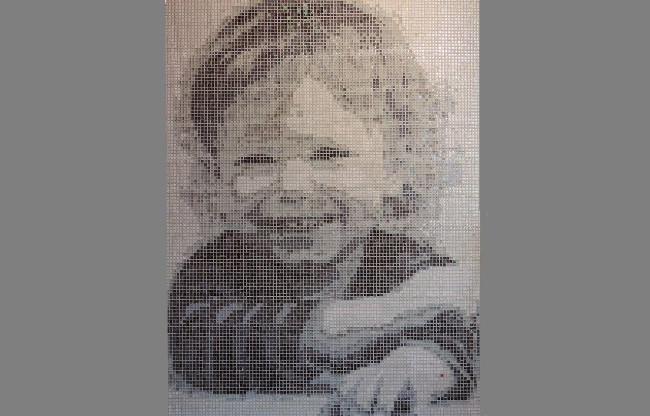 Tableau Mosaique Personnalisé tableau reproduction visage enfant photo pixel pix'elle art mosaic