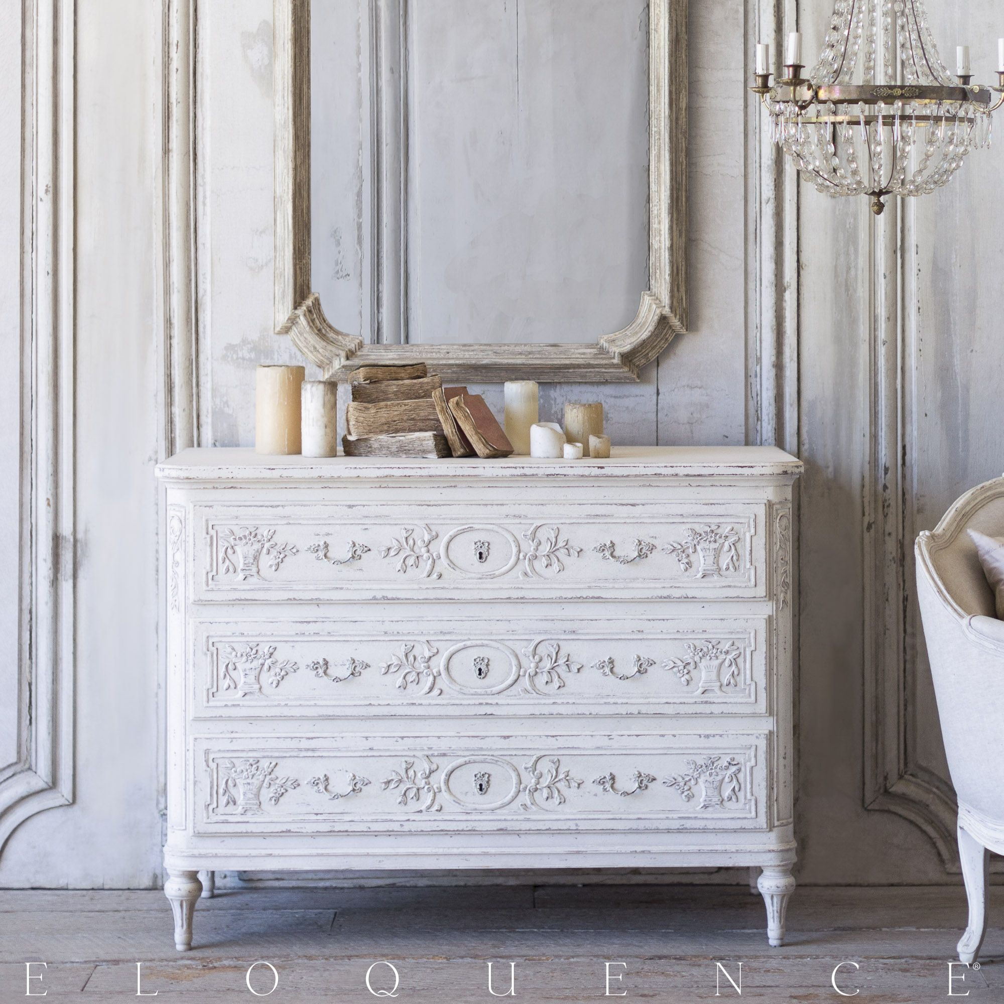 Bronte Commode, Weathered White | Eloquence, Inc.
