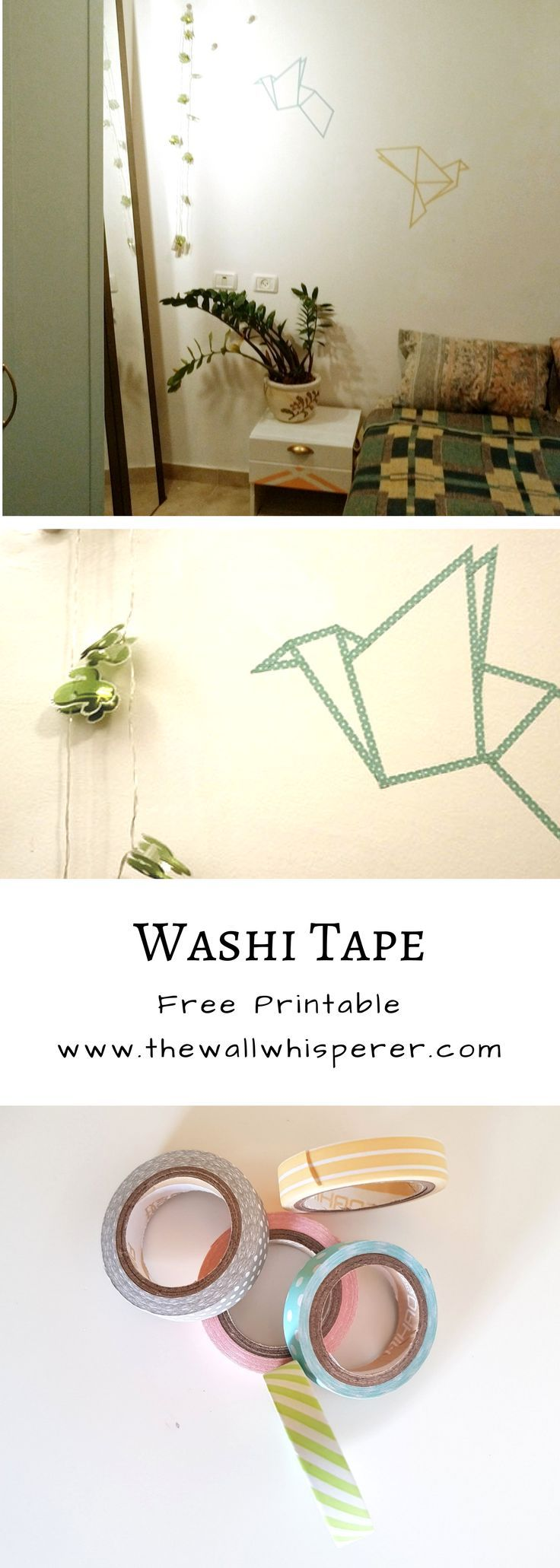 Diy washi tape origami birds share wall art ideas pinterest