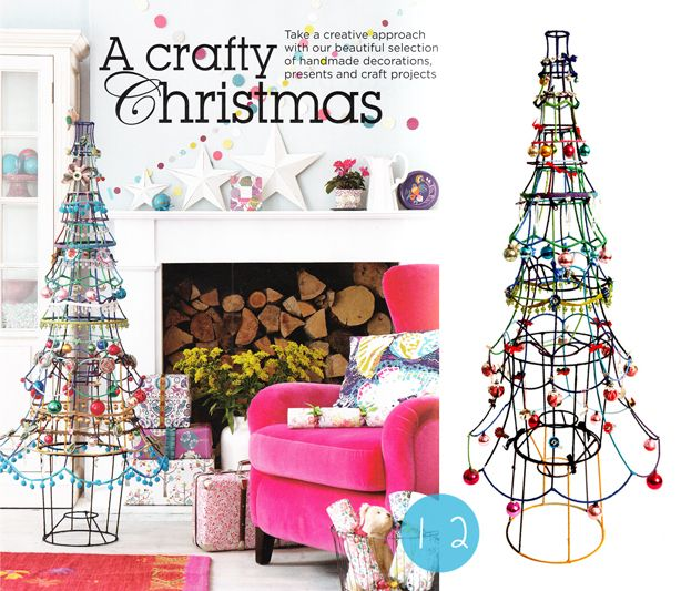 Vintage Christmas Craft Ideas Part - 24: A Lampshade Christmas Tree! Modern Meets Vintage DIY Decoration. Originally  By Sarah Moore (