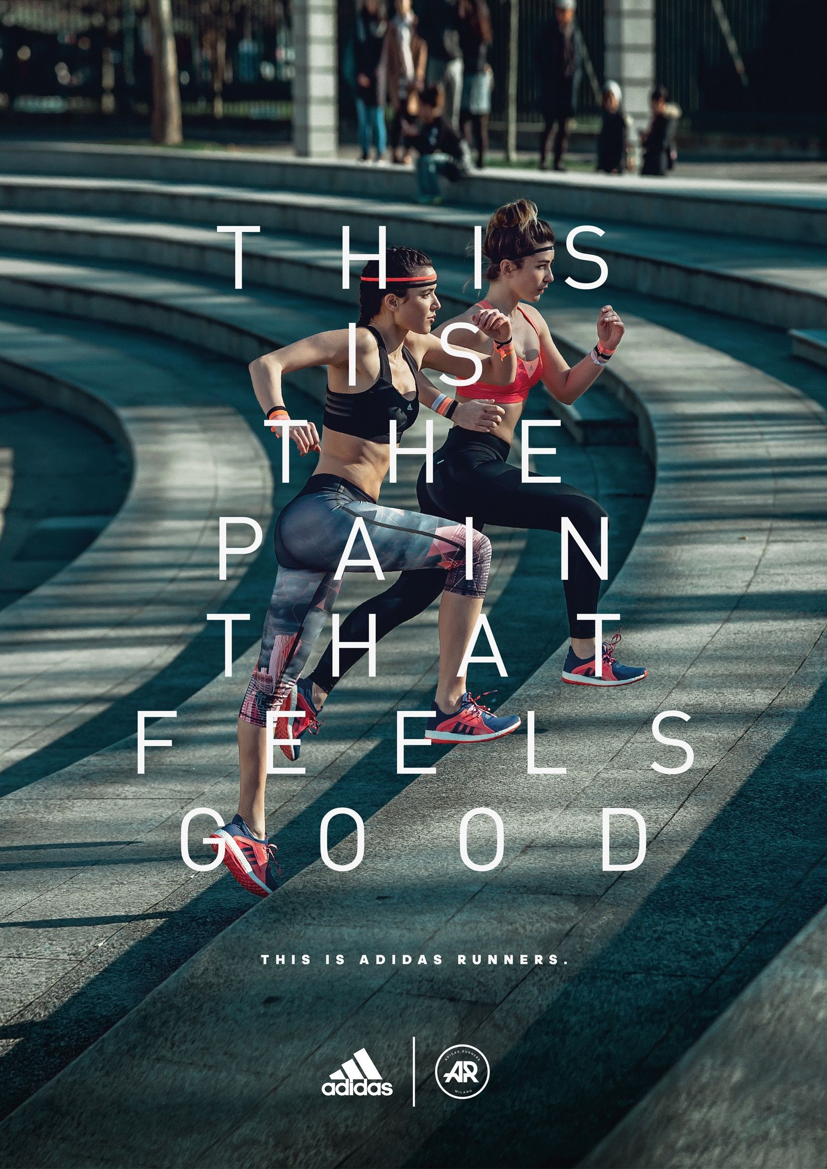 Print Advertisement Created By The Big Now Italy For Adidas Within The Category Fashion Sports Advertising Adidas Runners Adidas Ad