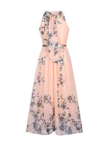 Boho Halter Dress