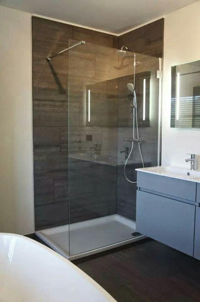 Inloopdouche Vaste Muur I P V Glas Badezimmer Wohnung Dusche
