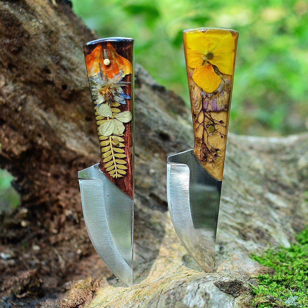 ce0da80282a5f Custom Pocket Knife / Made to Order / Hand Forged Botanical / Knife ...