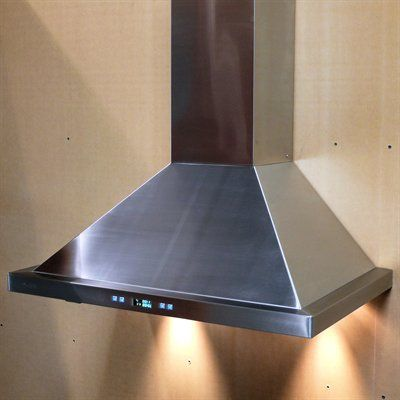 Cavaliere Hoods SV218B2-3 CavaliereEuro Wall Mount Range Hood  Cavaliere-Euro Wall Mount Range hood Telescopic chimney fits 8-9 ft ceiling ( 10+ ft ceil…