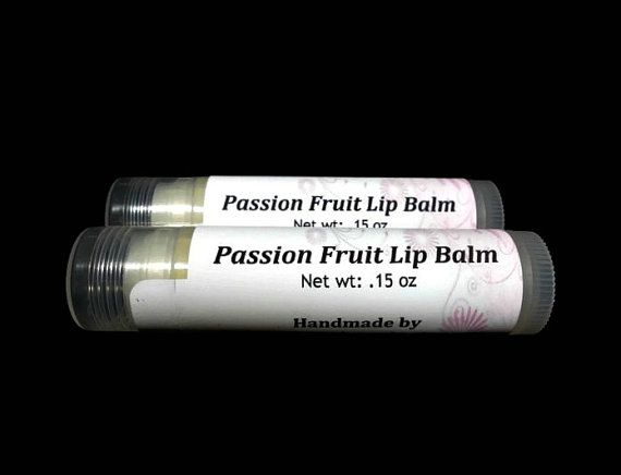 Passion Fruit Lip Balm Natural Lip Balm by SimpleHomeAccents, $3.25