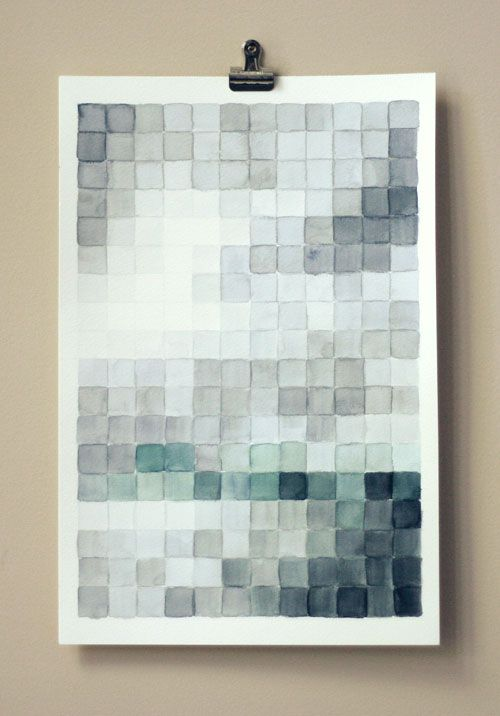 Diy Pixel Painting Watercolor Projects Diy Wall Art Diy Art