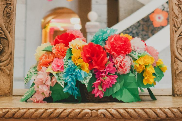 Mexican Paper Flowers Paper Flower Centerpiece Colorful Reception Decor Paper Flower Centerpieces Paper Flower Decor Paper Flowers Wedding