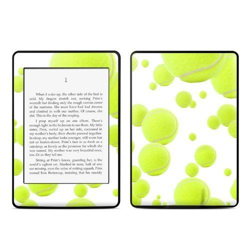 Lots of tennis balls design protective decal skin sticker for amazon kindle paperwhite ebook reader