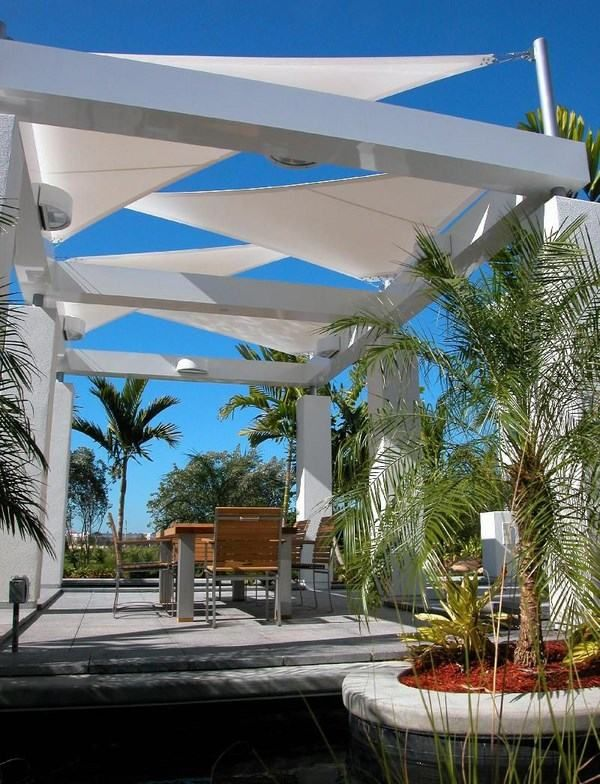 Modern Shade Sails Fabric Shade Structure For Patio