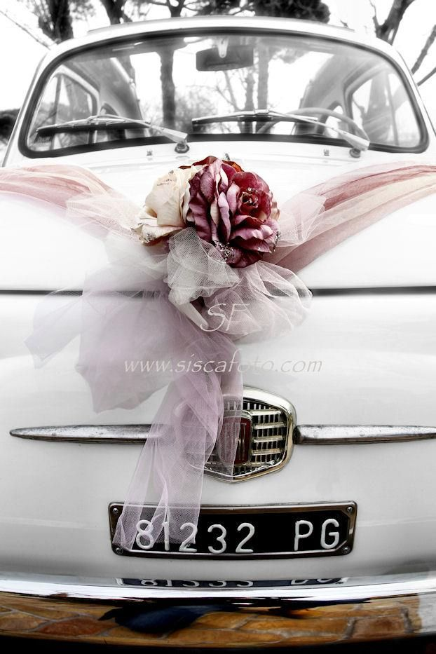 Lovely Italian car with beautiful flowers!