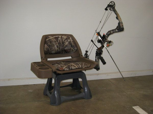 Ground Blind Chair Solid Yellow Accent Home Made Consists Of Folding Boat Seat With Caddy And Swivel Rubbermaid Step Stool Woodsey Too Adjustable Bow Holder