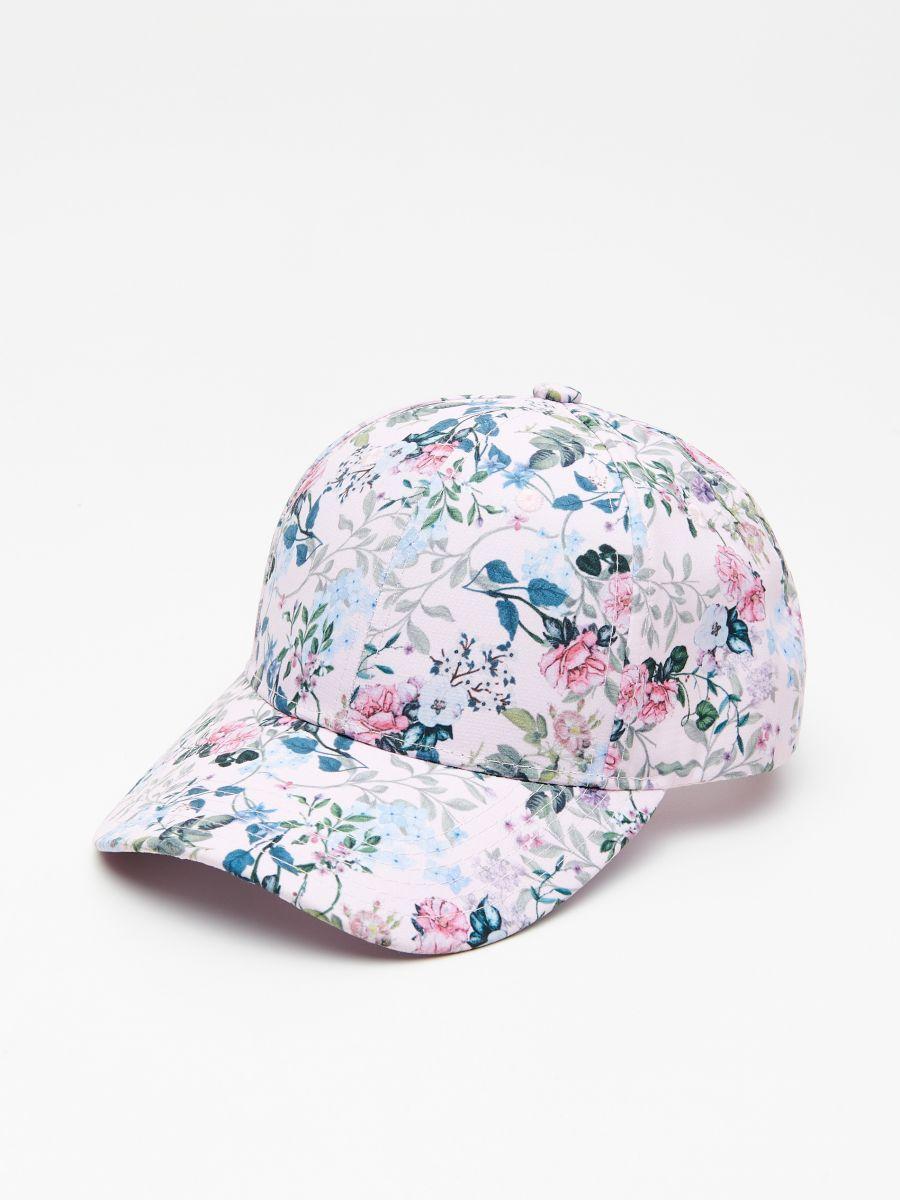 W2019 Czapka Z Daszkiem W Kwiaty House Vl324 Mlc Cap Floral Hats