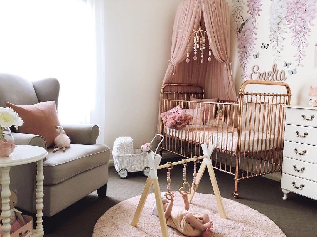 Ellie Cot - Rose Gold | Gold crib nursery, Gold baby room ...