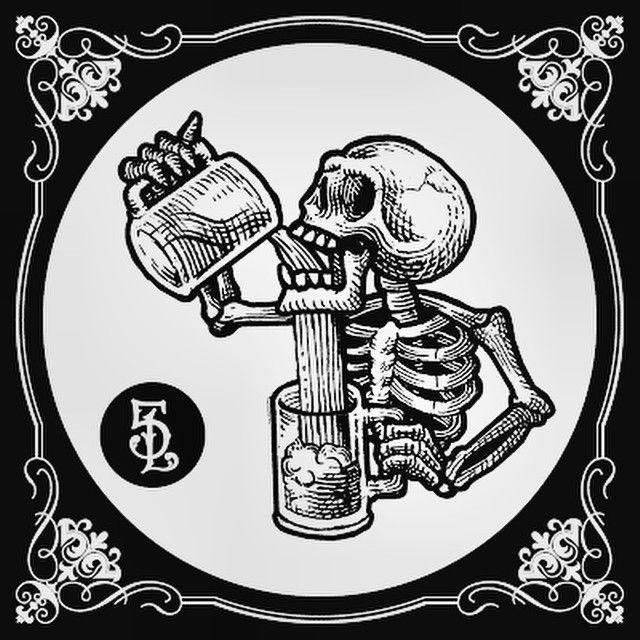 skeleton tries to drink illustration   Geneology   Tattoos ...