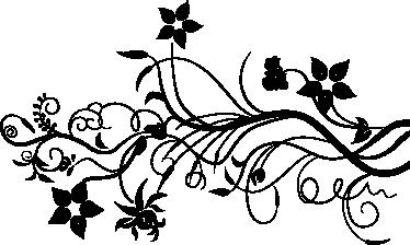 Vinilo decorativo hiedra flor