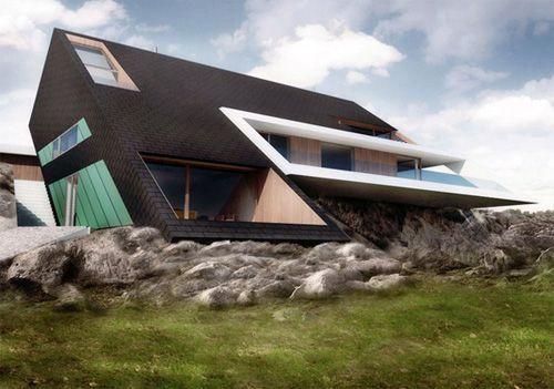 unique architectural designs. Unique Architecture Homes | Concept, Edge House By Mobius Architects Architectural Designs S