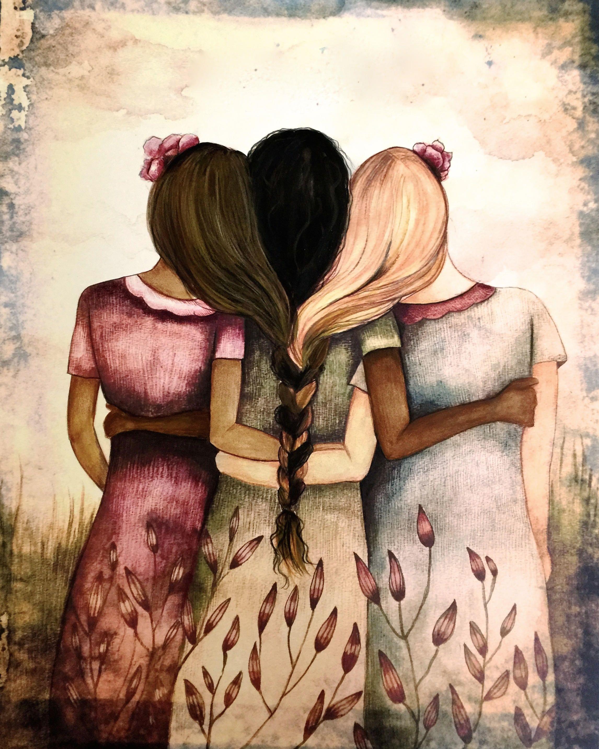 Открытки и рисунки о сестрах, дню ангела